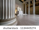 the lincoln memorial indoors at ... | Shutterstock . vector #1134445274