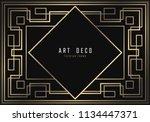 vector geometric frame in art... | Shutterstock .eps vector #1134447371