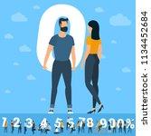 design   man   concept   symbol ... | Shutterstock .eps vector #1134452684