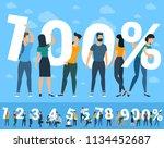 100 percent  illustration of... | Shutterstock .eps vector #1134452687
