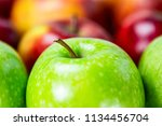 green and red apples | Shutterstock . vector #1134456704