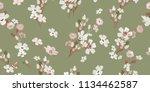 vintage seamless flowers.... | Shutterstock .eps vector #1134462587