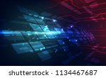 vector abstract futuristic high ... | Shutterstock .eps vector #1134467687
