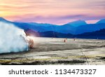 dramatic car drifting  blurred... | Shutterstock . vector #1134473327