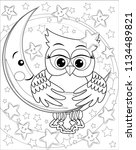 coloring book for adult and... | Shutterstock . vector #1134489821