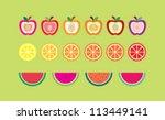 fruits | Shutterstock .eps vector #113449141