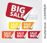 big sale tags with sale 50   90 ... | Shutterstock .eps vector #113449849