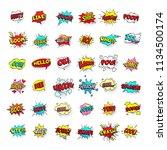 comic bubbles. cartoon text... | Shutterstock .eps vector #1134500174