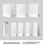 blank white boxes. rectangular... | Shutterstock .eps vector #1134500177