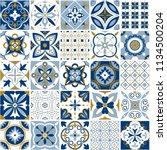 moroccan pattern. decor tile... | Shutterstock .eps vector #1134500204