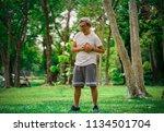 heart disease in the elderly | Shutterstock . vector #1134501704