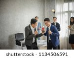 successful entrepreneurs and... | Shutterstock . vector #1134506591