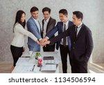 concept of teamwork. business... | Shutterstock . vector #1134506594