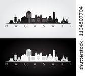nagasaki skyline and landmarks... | Shutterstock .eps vector #1134507704