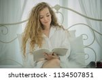 young beautiful smiling blonde...   Shutterstock . vector #1134507851