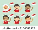 9 august   singapore... | Shutterstock .eps vector #1134509519