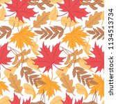 seamless pattern of multicolor... | Shutterstock .eps vector #1134513734