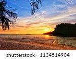 landscape of sea paradise... | Shutterstock . vector #1134514904
