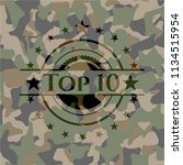 top 10 on camouflage texture | Shutterstock .eps vector #1134515954
