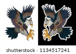 eagle tattoo isolate vector... | Shutterstock .eps vector #1134517241