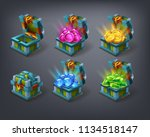 set of cartoon colorful... | Shutterstock .eps vector #1134518147