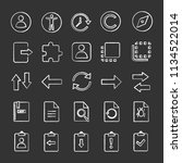 ui ux chalk icons set. system...
