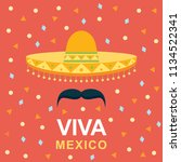 viva mexico independence day of ...   Shutterstock .eps vector #1134522341