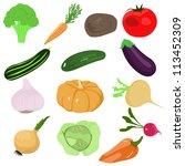 set of vector cartoon vegetables | Shutterstock .eps vector #113452309