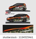 car decal vector. modern... | Shutterstock .eps vector #1134525461