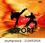 karate illustration | Shutterstock .eps vector #113452924