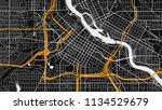 black white map city | Shutterstock .eps vector #1134529679