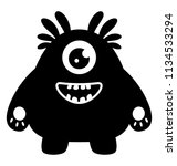 one eyed creature with teeth... | Shutterstock .eps vector #1134533294