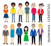 diverse people vector... | Shutterstock .eps vector #1134537101