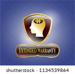 shiny badge with head with... | Shutterstock .eps vector #1134539864