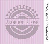 adoption is love retro style... | Shutterstock .eps vector #1134539939