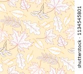 seamless pattern of white... | Shutterstock .eps vector #1134545801