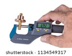 human hand holding a digital... | Shutterstock . vector #1134549317