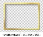 modern gold vector empty frame... | Shutterstock .eps vector #1134550151