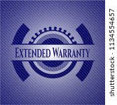 extended warranty emblem with... | Shutterstock .eps vector #1134554657