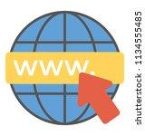 www  world wide web ... | Shutterstock .eps vector #1134555485