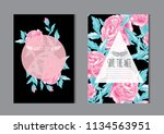 elegant cards with decorative... | Shutterstock .eps vector #1134563951