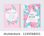 elegant cards with decorative... | Shutterstock .eps vector #1134568421