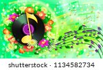 summer background with flowers  ...   Shutterstock .eps vector #1134582734