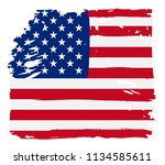 grunge american flag.vector... | Shutterstock .eps vector #1134585611