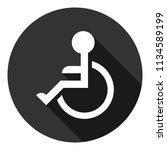 disabled vector icon.paralyzed... | Shutterstock .eps vector #1134589199