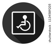 disabled vector icon.paralyzed... | Shutterstock .eps vector #1134589205