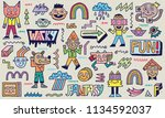 abstract fantasy wacky funny... | Shutterstock .eps vector #1134592037