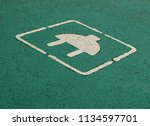 electric car parking and... | Shutterstock . vector #1134597701
