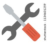 spanner and screwdriver...   Shutterstock .eps vector #1134601259