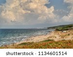 view from a beach at istanbul... | Shutterstock . vector #1134601514